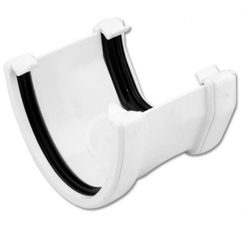 White Deepflow to Square Gutter Adaptor Floplast RHS3